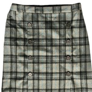 Brooks Brothers Skirts - Brooks Brothers Gray Plaid Stretch Wool Skirt Sz 4